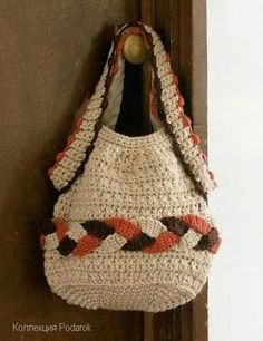 Crochet beige bag with diagram - matches the scarf in Crochet Today