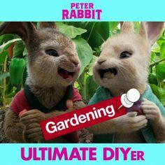 Peter Rabbit is the ultimate DIYer. Meet him in theaters everywhere February Peter Rabbit Movie, Rabbit Garden, Rabbit Gif, Creative Party Ideas, Birthday Themes For Boys, Hallmark Movies, Disney Memes, Love Movie, Beatrix Potter