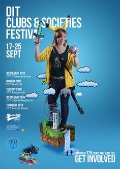 DIT Clubs & Socs Fest Posters on Behance