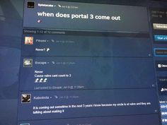 Found this in the portal 2 forums can't confirm if it's real but Portal 3 at least maybeeeeeee http://ift.tt/2vD0X5Q