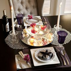 a romantic table for two