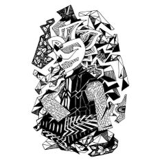 Francois Pretorius - (The Assembling of) Place in Thought (2014) #art #illustration #b&w #design #africa #fineart #enlightened