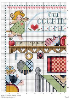 Schema Punto Croce Country: Casa Delle Bambole 01