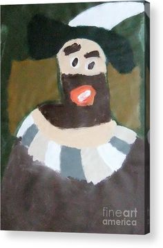Patrick Francis Acrylic Print featuring the painting Rembrandt 2014 - After Rembrandt Self-portrait by Patrick Francis