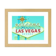 Welcome to fabulous Las Vegas, Nevada! Or at least you can capture some of Sin City's eclectic charm with this retro art print. Feauting an image of the now-famous sign, the print will add spunk and a ...  Find the Welcome to Las Vegas Art Print, as seen in the All Signs Point to Mid-Century Collection at http://dotandbo.com/collections/all-signs-point-to-mcm?utm_source=pinterest&utm_medium=organic&db_sku=SO60128