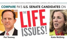 Voices for Life : Where do the Pennsylvania Candidates for U.S. Senate Stand on Life Issues?  https://voicesunborn.blogspot.com/2016/09/where-do-pennsylvania-candidates-for-us.html#.V8gl4JgrLIU