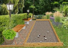 Créer un jeu de boules (pétanque ou lyonnaises) au jardin : Lawn Games, Backyard Games, Backyard Ideas, Outdoor Spaces, Outdoor Living, Outdoor Decor, Bocce Ball Court, Architecture Jobs, Outside Games