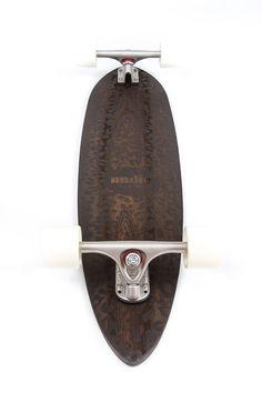 Handmade Solid Wenge Laser Etched Leopard Print Pintail Longboard Skateboard
