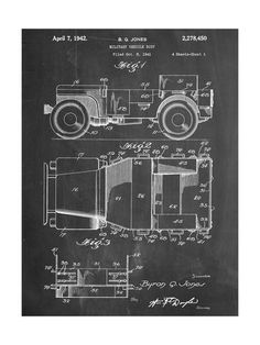 Willy's Jeep Patent Poster at AllPosters.com