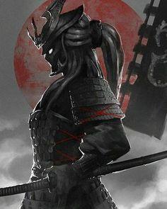 Ninja, Katana, Samurai Armor, Female Samurai, Japanese Tattoo Designs, Samurai Tattoo, Art Station, Irezumi, Elements Of Art