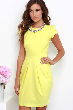 Wolf & Whistle Walking on Sunshine Yellow Dress at Lulus.com!