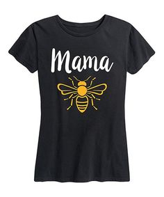 Instant Message Womens Black Mama Bee Relaxed-Fit Tee - Women & Plus | Zulily
