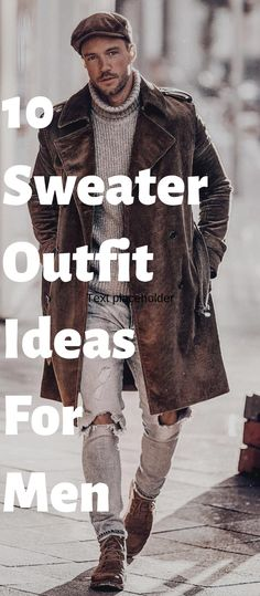 10 Ways To Style Sweater Fashionably! Mens Style Guide, Men Style Tips, Sharp Dressed Man, Well Dressed Men, Casual Grooms, Men Casual, Mens Fashion Blog, Men's Fashion, Winter Fashion