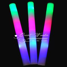 Cheap Event & Party Supplies, Buy Directly from China Suppliers:	  	  	3 modes led light foam stick 20pcs/lot multi color stick Colors changing glow foam stick for party fest