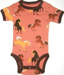 Horse Clothing for Baby - Baby Bodysuit Creeper with Horse Print - www.girlshorseclothes.com