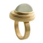 Green Moonstone and #golden #ring - Daisy Verheyden. #luxurylifestyle #design