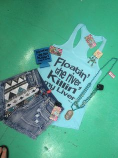 Floatin the river killin my liver Tank by FrogstonesBoutique