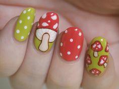 mushrooms #nail #nails #nailart