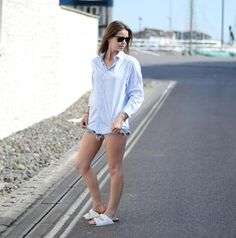 #summer #normcore #minimal #denim #itslilylocket White Shorts, Personal Style, Minimal, Lily, Normcore, Street Style, Denim, Fitness, Summer