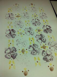 Padrão, art stamp, carimbo em rolo papel, pigmentos naturais em pó a parti da desidratação de casca laranja, amoras e mirtilos.