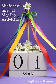 Montessori-inspired ideas for celebrating May Day in the classroom or at home