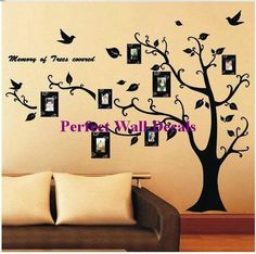 vinyl decal wall tree----Family Tree Display