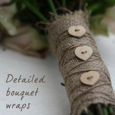 hessian and buttons #wedding#flowers