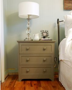 OMG Rast $40 3 drawer dresser from IKEA hacked to be this gorge night stand.......this is ABSOLUTELY on my list of things to do when we update our master because seriously our side tables aren't cutting it......LOVE LOVE LOVE