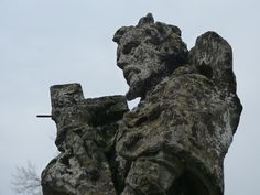 Old statue in Prien, near the Prien bridge. (Bavaria, Germany - 2012 -) #Statue #Old #Weather