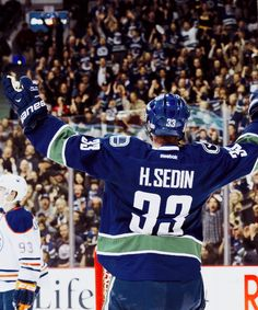 Henrik Sedin, Vancouver Canucks - Mar 12/14 playing 1000th game! and all with the Vancouver Canucks!  What a stat that is!