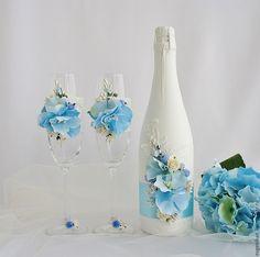 """Купить Свадебное шампанское """"Элина"""" - свадебное шампанское, шампанское на свадьбу, шампанское, свадебные аксессуары, свадебное"""