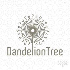 Logo represents an abstract dandelion, build out of symmetrical elements. It's currently incorporated into a name, but could be also made smaller and put as a separate icon next to company's name.