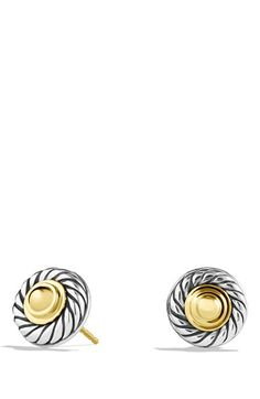 David+Yurman+'Cable+Classics'+Earrings+with+Gold+Domes+available+at+#Nordstrom