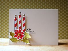 Peace On Earth Card by Cristina Kowalczyk for Papertrey Ink (July 2013)