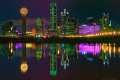 Dallas, Texas - Trinity River - Skyline