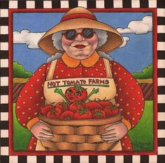 Art 'Hot Tomato Farms (sold)' - by Shelly Bedsaul from colored pencil