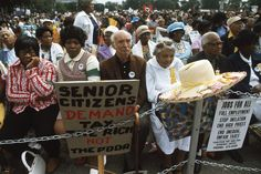 A senior citizens' march to protest inflation, unemployment, and high taxes stopped along Lake Shore Drive in Chicago to hear speeches from various officials in October The rally was headed by Rev. Jesse Jackson and Operation Push. African American History Month, Black History Month, Still Picture, Photo Maps, National Archives, The Rev, Photography Projects, True Colors, Citizen