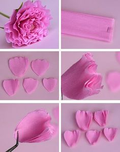 Claire's paper craft: rose.valentine's day
