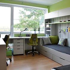 add picture to album Kids Bedroom Furniture, Bedroom Decor, Room For Two Kids, Desk In Living Room, Student Room, Kids Room Design, Apartment Interior, Modern Bedroom, Girl Room