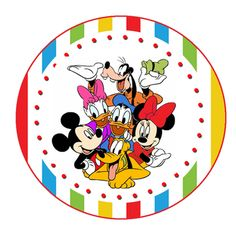 "Mickey and Pals Birthday Party 2"" Gift Tags"