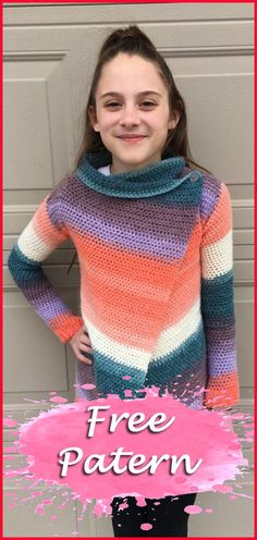 Hello friends addicted to crochet, today I am offering for you 11 models of Crochet Cardigan. There are 11 free patterns to choose the model that combines with your body and style. I love free empl… Crochet For Kids, Free Crochet, Knit Crochet, Crochet Sweaters, Crochet Scarfs, Knitting Patterns Free, Free Knitting, Free Pattern, Crochet Patterns