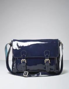 Blue patent leather. Pretty.