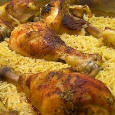 Ridiculously Easy Baked Chicken with Rice
