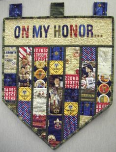 Boy Scout banner.