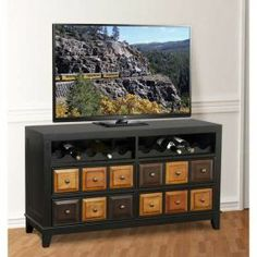 Apothecary Wine Rack TV Stand