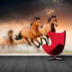 Fotobehang Paarden | Maak het jezelf eenvoudig en bestel fotobehang voorzien van een lijmlaag bij YouPri om zo gemakkelijk jouw woonruimte een nieuwe stijl te geven. Voor het behangen heb je alleen water nodig! #behang #fotobehang #print #opdruk #afbeelding #diy #behangen #paarden #paard #dieren #dier #vee