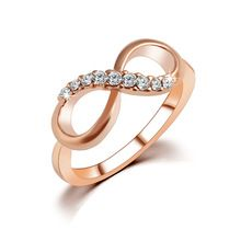 iMucci New Design hot sale Fashion Alloy Crystal Rings Gold Color Infinity Ring Statement jewelry Wholesale for women Jewelry Rose Gold Infinity Ring, Infinity Rings, Infinity Jewelry, Infinity Symbol, Infinity Wedding, Bijoux Or Rose, Mode Rose, Ringe Gold, Fine Jewelry