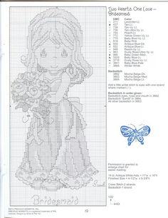 "Precious Moments ""Bridesmaid"" Cross Stitch Pattern"