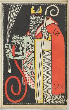 St. Nicholas and Krampus Card, 1911. The Metropolitan Museum of Art, New York. Museum Accession, transferred from the Library (WW.541).