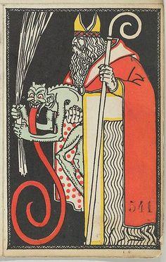 St. Nicholas and Krampus Card, 1911. The Metropolitan Museum of Art, New York…
